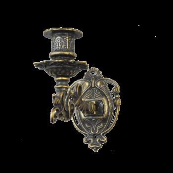 Канделябр настенный на 1 свечу антик