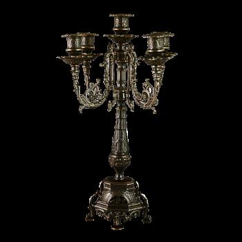 Канделябр Ростра на 5 свечей, антик