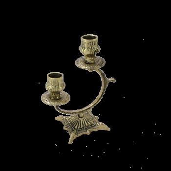 Канделябр Синкопа 2-х рожковый, золото