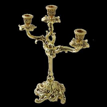 Канделябр Трес Велло 3-х рожковый, золото