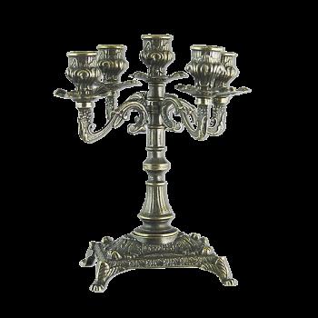 Канделябр Венеция на 5 свечей малый, бронза