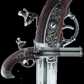 Пистоль 3-х ствольный, системы Флинтлок, Франция 18 в.