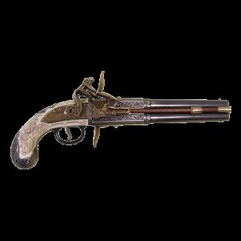 """Пистоль """"Роловер"""" 2-х ствольный , Англия 1750 г."""
