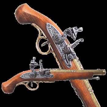 Пистоль системы флинтлок 18 века