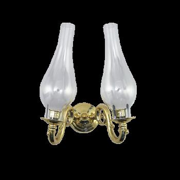 Подсвечник настенный ламповый на 2 свечи