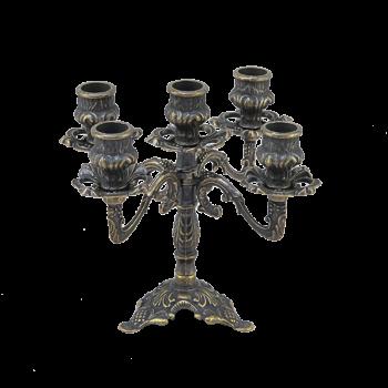Подсвечник Трилистник 5 свечей, антик