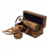 Подзорная труба в кожаном футляре