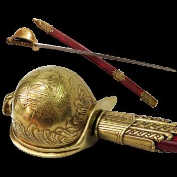 """Сабля пиратская в ножнах Хайретдина """"Красная Борода"""", Турция  1478-1546 гг"""