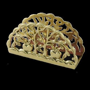 Салфетница Фрукты, золото