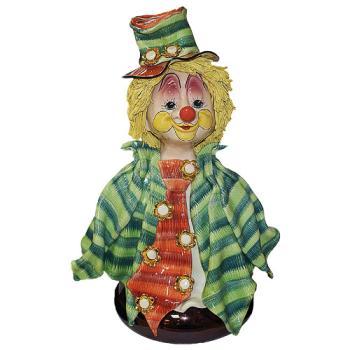 "Скульптура- бюст ""Клоун в цилиндре с цветком"""