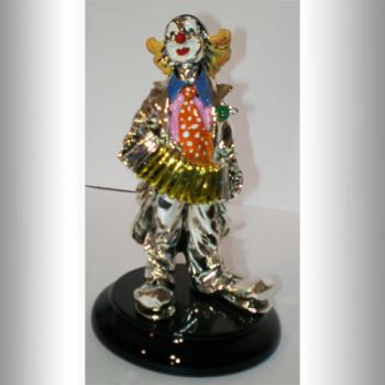 """Скульптура """"Клоун с гармонью"""""""