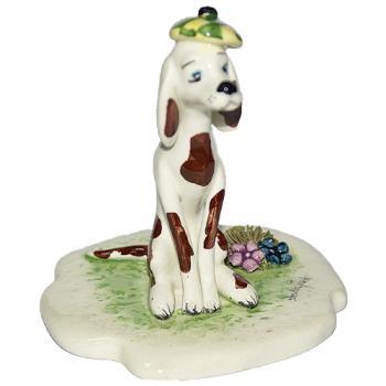 """Скульптура """"Собака и цветы"""""""