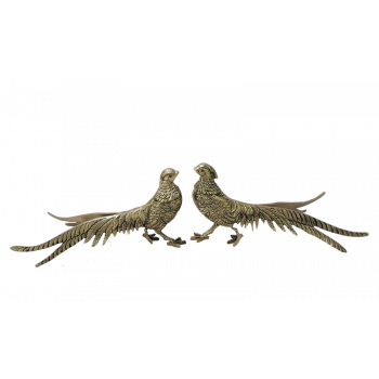 Статуэтка Фазаны пара, золото