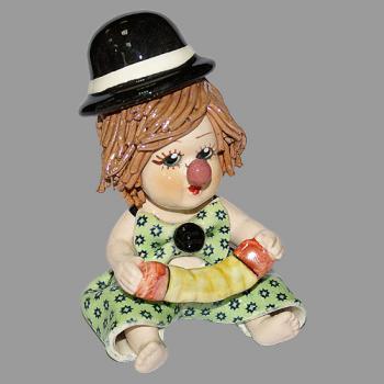 "Статуэтка ""Клоун - мальчик с гармошкой"""