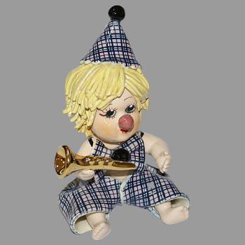"Статуэтка ""Клоун - мальчик с трубой"""