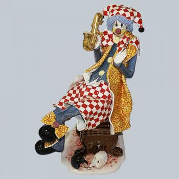 "Статуэтка ""Клоун сидящий с саксофоном"""