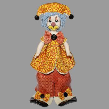 """Статуэтка """"Клоун стоящий в оранжевом"""""""