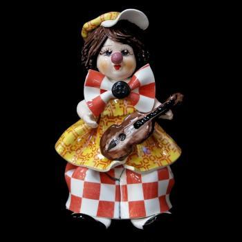 """Статуэтка """"Маленький клоун с гитарой"""""""