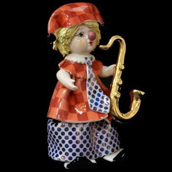 "Статуэтка ""Маленький клоун с саксофоном"""