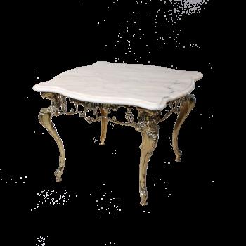 Столик Бикош малый с мраморной столешницей, золото