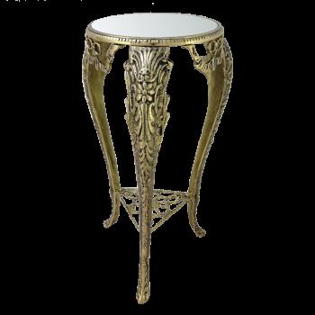 Столик для телефона с зеркальной столешницей, золото
