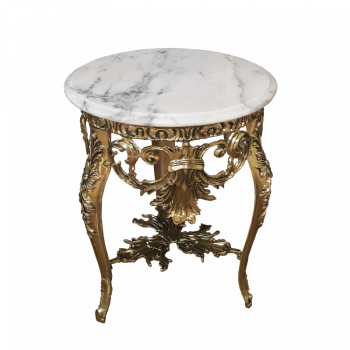Столик круглый с мраморной столешницей Наполеон