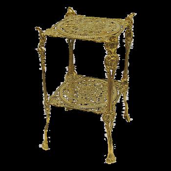 Столик квадратный 24х46 см, с двумя полками
