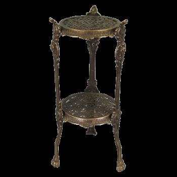 Столик маленький круглый, 2 полки, 46 см
