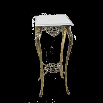 Столик Порту высокий  с мраморной столешницей, золото